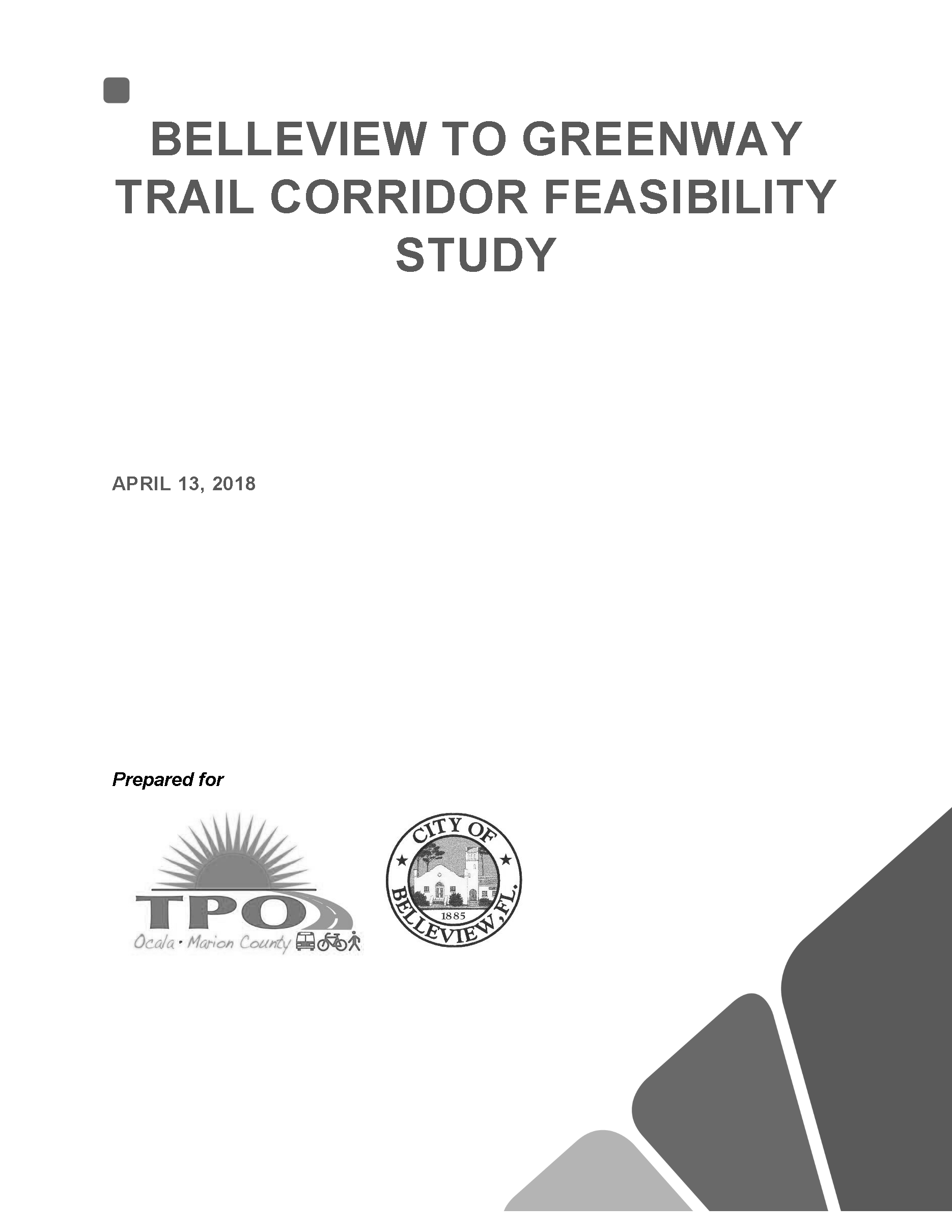Belleview to Greenway Trail Feasibility Study